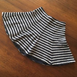 Theory Skirt ~ Navy & White Stripes